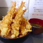 四八天丼 - 極海老天丼(海老6本入り/700円)・・・正規の価格は1000円