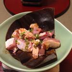 枯淡 - 大和地鶏朴葉味噌焼き