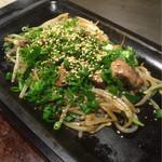 鉄板Dining ゆうあ - レバー、もやし炒め完成品(^^)
