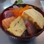 節子鮮魚店 - 海鮮丼ミニ(800円)