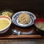 ハンキーパンキー食堂 - ランチのグリーンカレー(ドリンク付き1,000円)
