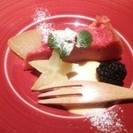イチイ - デザート ピンクのガトーショコラ