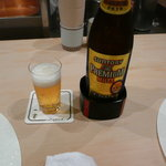 天ぷら 一宝 - 熱々の天ぷらには、キリッと冷えたビールが一番ですね