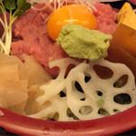 鮨 笹屋 - ネギトロ丼中盛りです