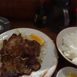 清水 - 料理、生姜焼き定食