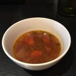 ステーキ&グリル IRON HORSE - ランチのスープ