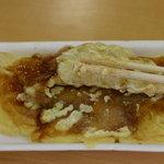 伊勢だら焼き ちえちゃん - お好みだら焼き (カラシマヨネーズ)150円 中身 豚肉入りです