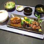 近江多賀亭 - 近江牛ハンバーグとひとくちステーキ膳
