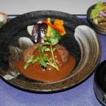 近江多賀亭 - 近江牛ハンバーグ膳(デミソースと和風しょうゆ味が選べます)