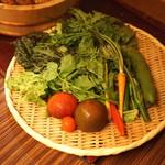 空創旬菜 雷神 - 本日の朝採り野菜 (2015/05)