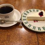 珈琲店トップ - ブレンドコーヒーとレアチーズケーキ! ★★☆☆☆
