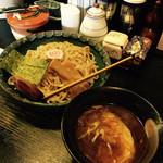 花菱 - つけ麺、あっさり、全粒粉平打ち!チョット甘め、美味い!