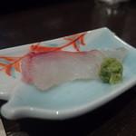 天ぷら 酒菜 醍醐 - 男鹿産のタイのお刺身