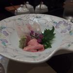 天ぷら 酒菜 醍醐 - カワハギのお造り 肝がいいね~