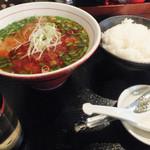 らーめん屋段七 - 台湾肉そばライスセット