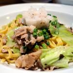 パルパスタ - 豚バラとキャベツと塩昆布の梅おろしスパゲティ