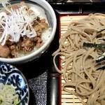 そば酒房 蕎麦しん - しん蕎麦ミニ丼セット(牛丼)