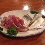 小笹寿し - カツオとコハダ、お刺身