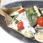 ライス共和国 - 魚介の竹皮包み蒸し