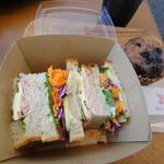ベッカライ シュタインメッツ - サンドイッチのふたをオープン!