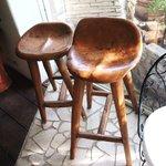 ガーデン&クラフツ カフェ - おしりにピッタリな椅子(笑)
