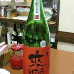 三國酒店 - 明石の地酒「来楽」のしぼりたて生350円
