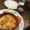 アップルの森 - 料理写真:肉のチーズ焼きランチ 食後にデザートもつきます。(この日はメロンシャーベット)
