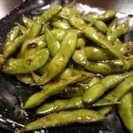 釜座二条 丸福 - 焼き枝豆