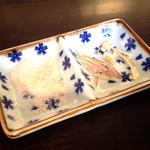 櫻井酒店 - 2015.5 自家製豆冨にかける岩塩とみょうが