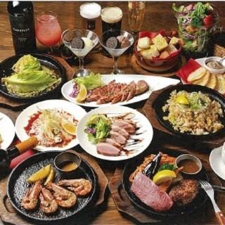 ステーキ&飲み放題コースは3500円~・貸切宴会も可能!
