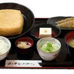 Taniguchiya - 料理写真:油あげ1枚御膳