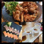 38543381 - 鶏唐揚げ・押し寿司・デサート
