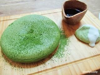 嵯峨野湯 - 新メニュー・抹茶ずくしのパンケーキ