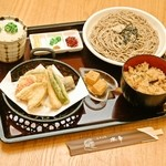 水車 - 2015年夏限定「夏野菜の天ぷら御膳」