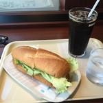 ドトールコーヒーショップ - ミラノサンドBとアイスコーヒーM