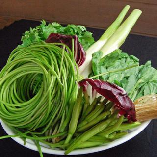 珍しい野菜もご用意しております。