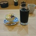 香味 - デザートとアイスコーヒー
