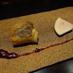 魯庵 - 2015.06 前菜2、フォアグラの包み揚げとフォアグラの燻製