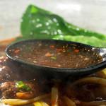 38555296 - (台灣牛肉面)甘い香りがするスープでした。