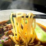 38555298 - (台灣牛肉面)台灣拉麺と同じ食感のモチモチした麺