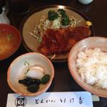 とんかつ いけだ - ロースカツ定食(870円)
