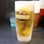 日高屋 - 生ビール 310円。