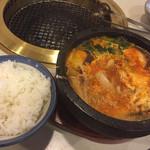 悠悠宴 - 肉チゲ鍋&ライス