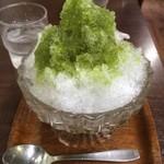 珈琲けやき - かき氷抹茶