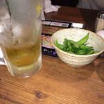 38562147 - ウーロンハイと枝豆