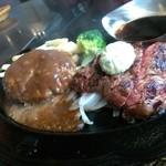 肉の万世 - ハンバーグとカットステーキのランチ