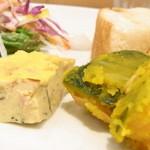 +39 - サラダ・オムレツ・南瓜・薩摩芋チップス フォカッチャはお代りOK☆♪