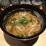 フィッシュメン - 煮干出汁かけうどん(490円)