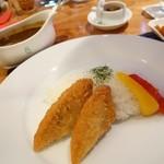 イゾラ ベーラ - 2014年9月 チキンカレーTP白身魚のフライ【1100+350円】