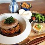 キラキラキャッチン - 【夏メニュー】黒米玄米バーガーdeだし茶漬け 食欲がないときでもさらっと食べられます*バーガーは3種からChoice!
